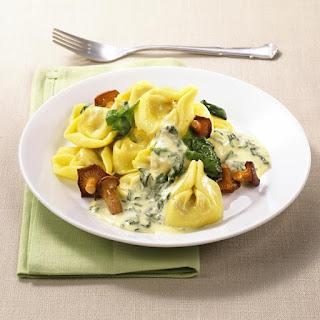 Tortellini with Mascarpone and Chanterelle Mushrooms.