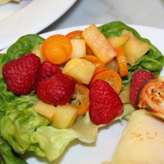 Ginger-Spiked Kumquat-Pineapple-Raspberry Salad