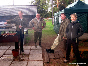 Photo: More shashlik (Russian barbecue) for our first dinner at the Kamislov research station