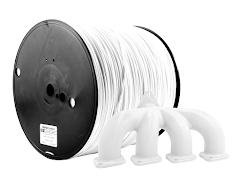 White PRO Series ABS Filament - 1.75mm (10lb)
