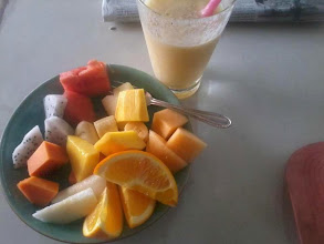 Photo: Fruchtsalad mit Fruitshake in Vientiane