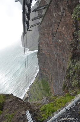linowa 'kolejka górska', Faja Cabo Girão