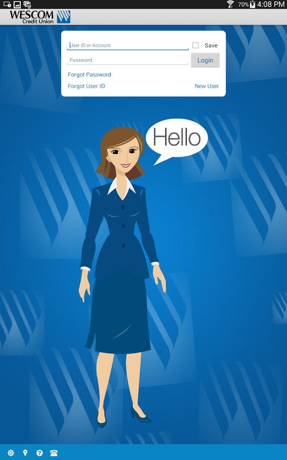 Wescom Credit Union Mobile- screenshot