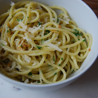 Spaghetti with Olive Oil and Garlic.