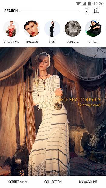 Zara Android App Screenshot