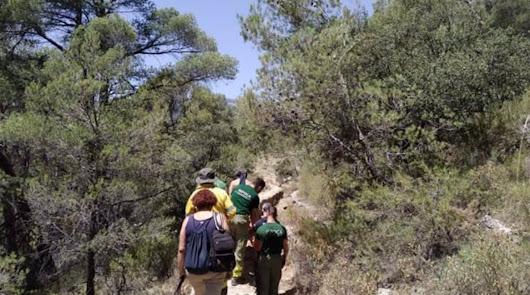 Rescatan a una senderista herida en una ruta en Laujar de Andarax