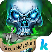 Green Hell Skull Devil Knife Keyboard Theme