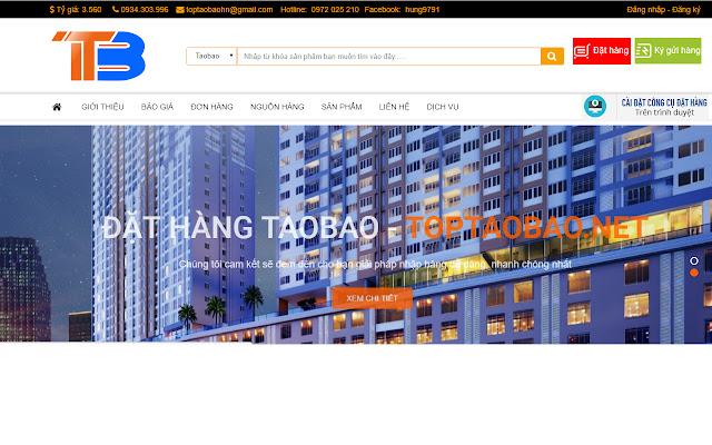 CÔNG CỤ ĐẶT HÀNG TOPTAOBAO.NET