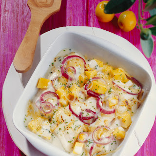 Fischfilet in Sour Cream mit Mango