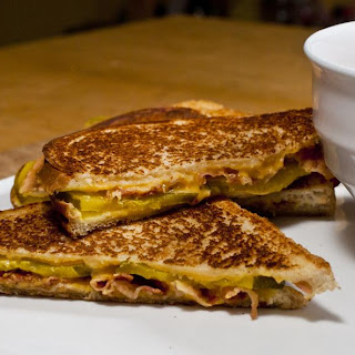 Grilled Cheese with Pickles and Bacon