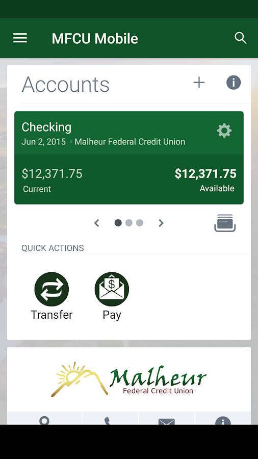 MFCU Mobile- screenshot