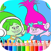 Coloring games little trolls