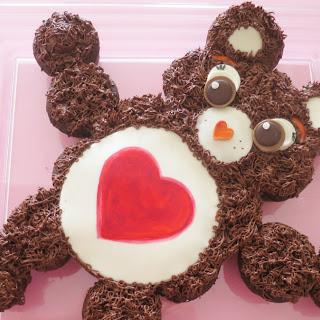 Care Bear Cupcake Cake.