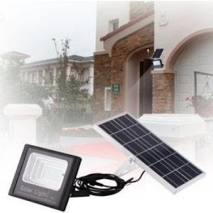 Proiector solar 125 LED, putere 80 W, cu panou solar si telecomanda