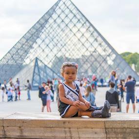 Spurs Cheerleader meets Paris by Larry Crawford - Babies & Children Toddlers ( paris, cute baby, spurs, girl toddler, portrait )