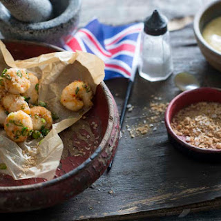 Salt And Pepper Scampi With Garlic Mayonnaise