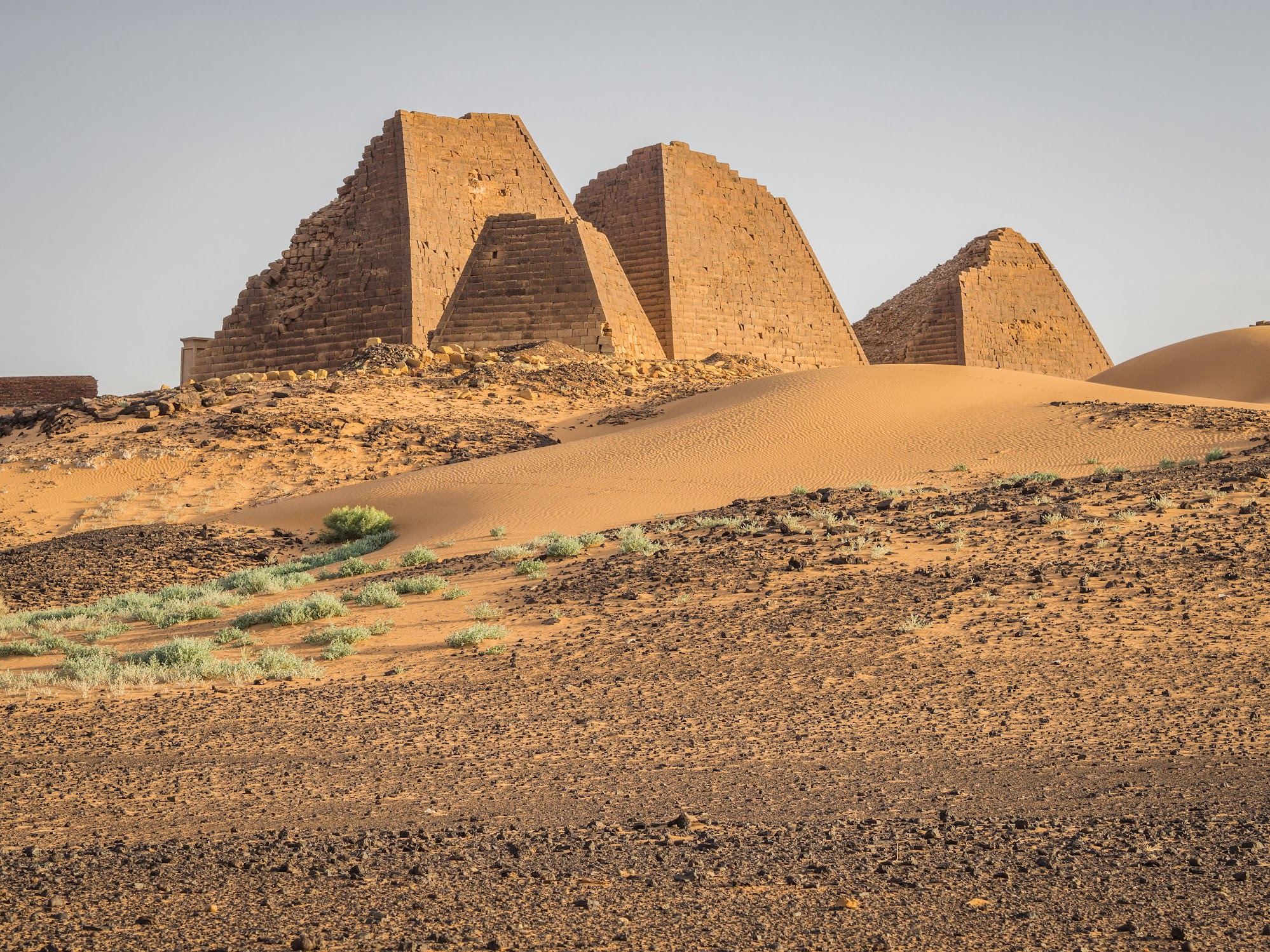 Meroe pyramids during sunset