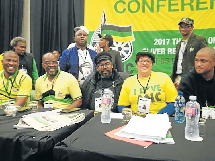From left, the ANC Eastern Cape provincial executive members, elected in September: chairman Oscar Mabuyane, his deputy Mlungisi Mvoko, secretary Lulama Ngcukaitobi, his deputy Helen Sauls-August and treasurer Babalo Madikizela. Picture: SUPPLIED