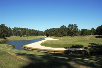 Photo: 11th still: 3rd shot a high lob to the pin, then a short putt and BIRDIE!