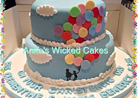 Ballon themed christening cake