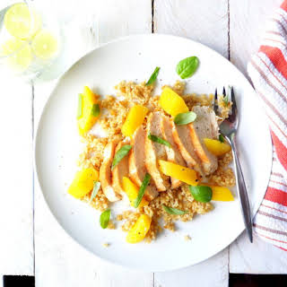 Mango-Basil Chicken with Freekeh.