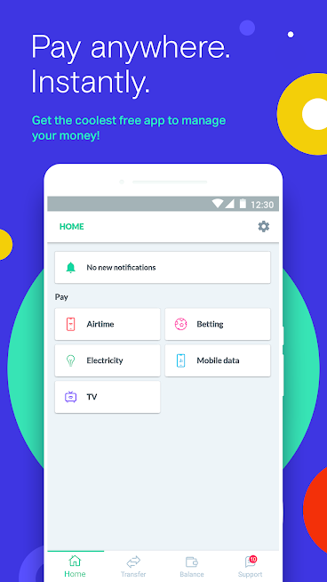 Pay instant money