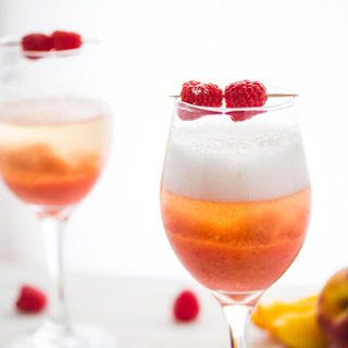 Peach and Raspberry Bellinis