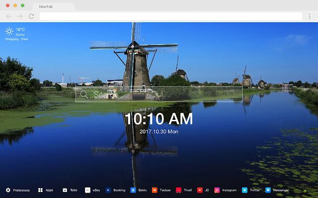 Netherlands New Tab HD Popular Scenery Theme