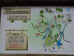 古城山やすらぎの森案内図