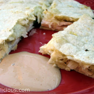 Turkey Ruben Quesadilla