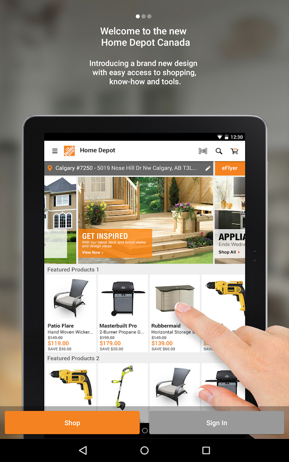 The Home Depot Canada- screenshot
