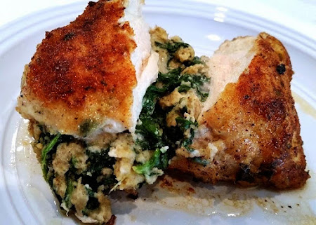 Savory Spinach Filled Chicken Breasts ~ Recipe