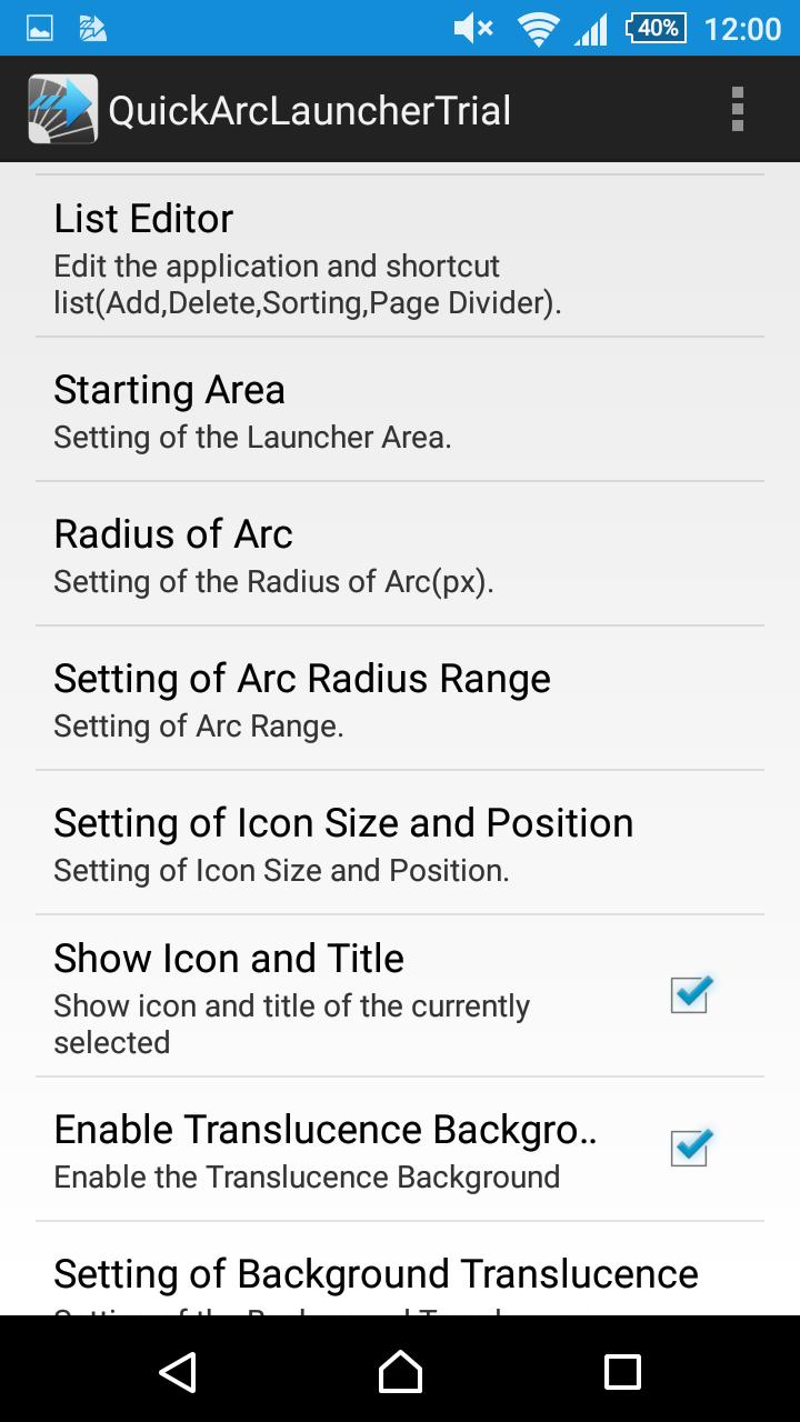 Quick Arc Launcher ( Smart One Swipe Launcher ) Screenshot 9