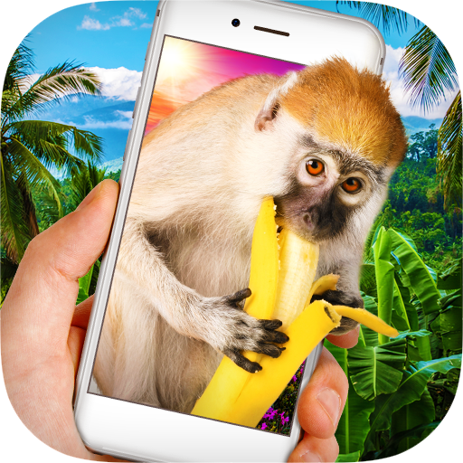 Monkey in Phone Prank Icon