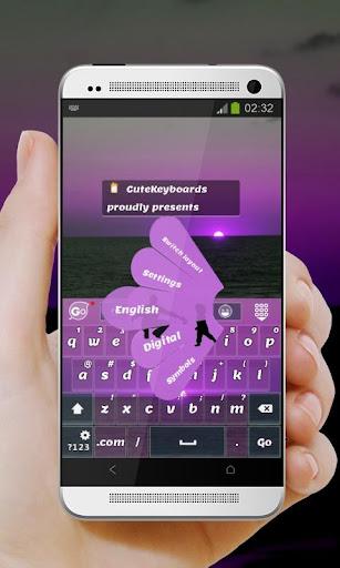 バイオレットラブ GO Keyboard