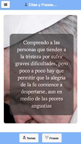 android Frases del Papa Francisco Screenshot 2