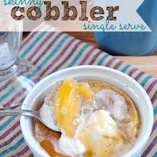 Single Serve Peach Cobbler.