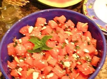 Watermelon-Mint fresh & fat-free Salad