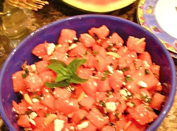 Watermelon-mint Fresh & Fat-free Salad Recipe