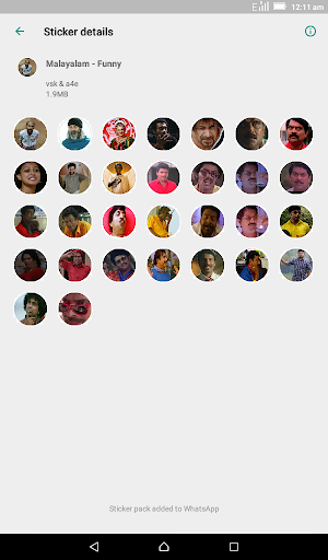 Malayalam Stickers for WhatsApp - WAStickerApps screenshot 5