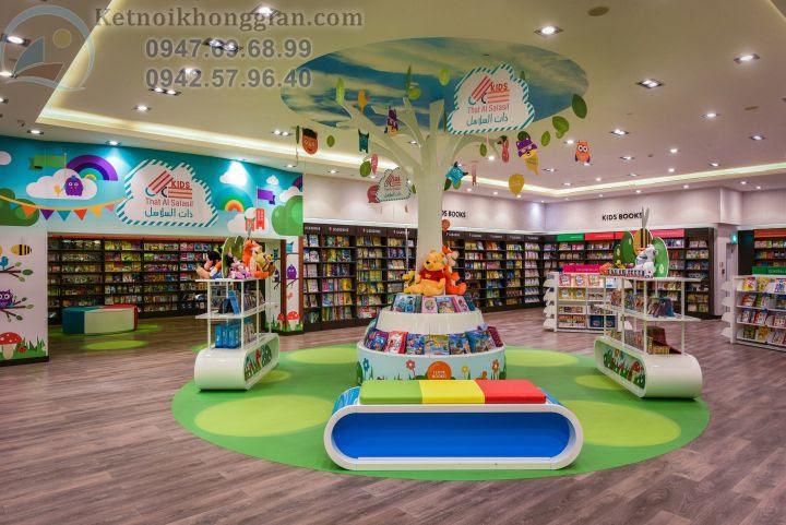 thiết kế nội thất nhà sách cho trẻ em