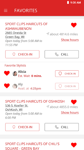 Screenshot for Sport Clips Haircuts Check In in United States Play Store