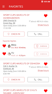Sport Clips Haircuts Check In Screenshot
