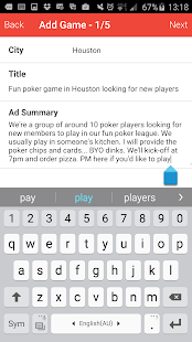 Find poker games in your area