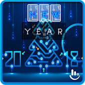 2018 Happy New Year Keyboard Theme Android APK Download Free By Fashion Cute Emoji