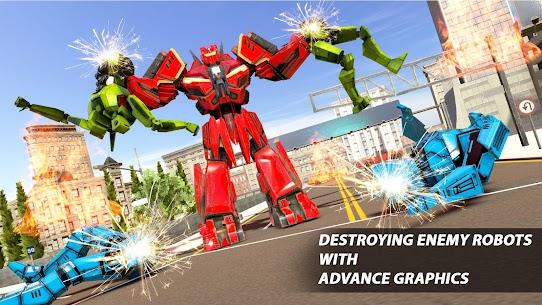 Real Robot Car Transform War : Mega Robot Games 5