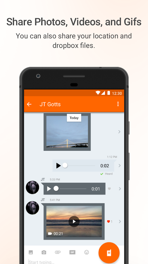 Voxer Walkie-Talkie PTT – Capture d'écran