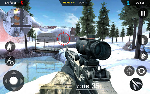 Winter Mountain Sniper - Combat de tireur moderne  captures d'écran 2