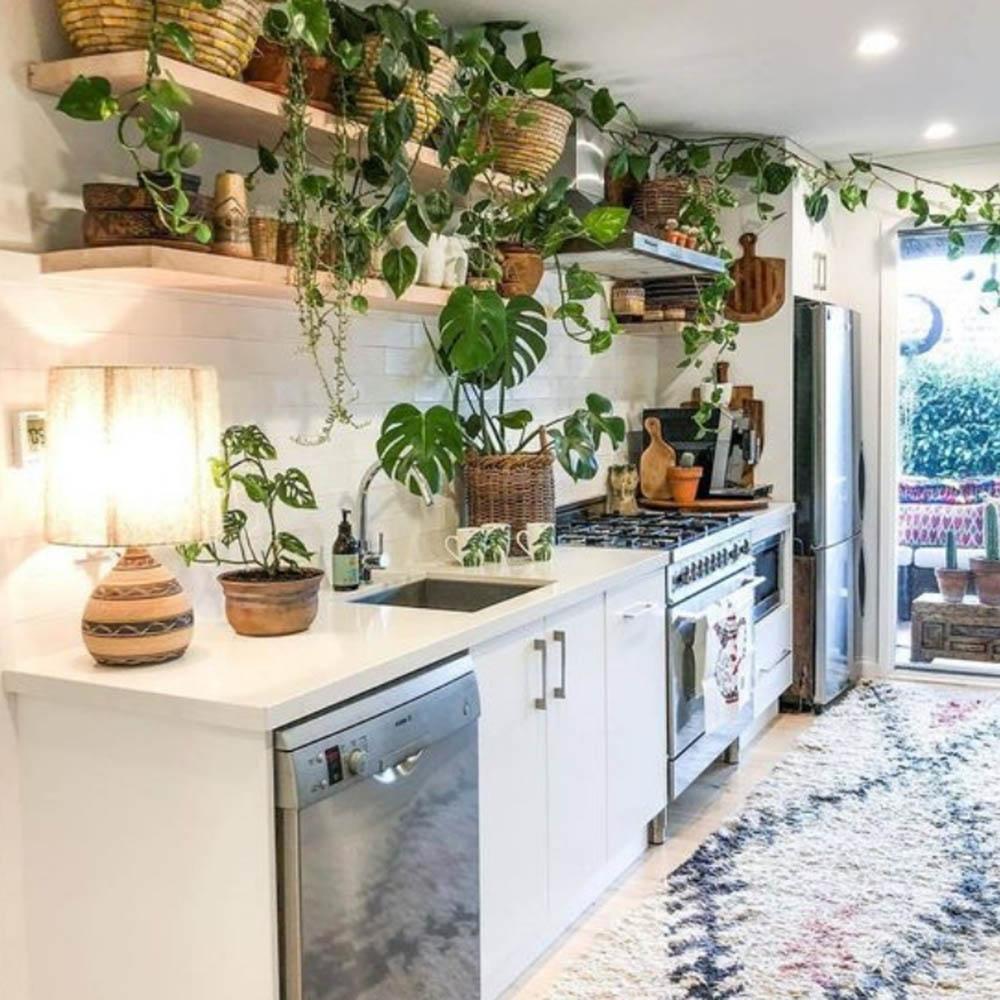 Thiết kế nội thất gia đình tự nhiên và mát mẻ