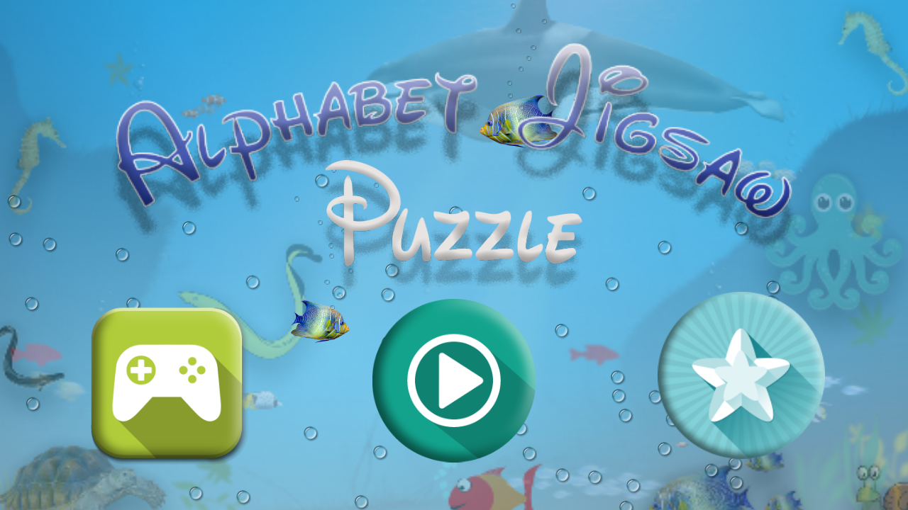 Kids Alphabet Jigsaw- screenshot